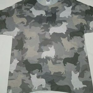 3D Camouflage Corgi Dog Small T-shirt